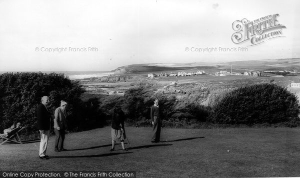 Bude, Bowling Green & Efford Down Hotel c.1960