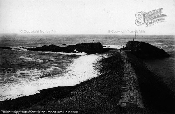 Bude, Breakwater And Chapel Rock 1890