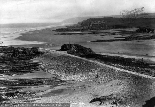 Bude, Breakwater And Chapel Rock 1893