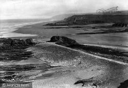 Bude, Breakwater And Chapel Rock 1893
