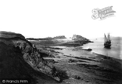 Bude, Breakwater And Coast 1890