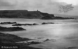 Bude, Breakwater And Compass Point c.1871