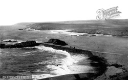 Bude, Breakwater From Compass Hill 1890