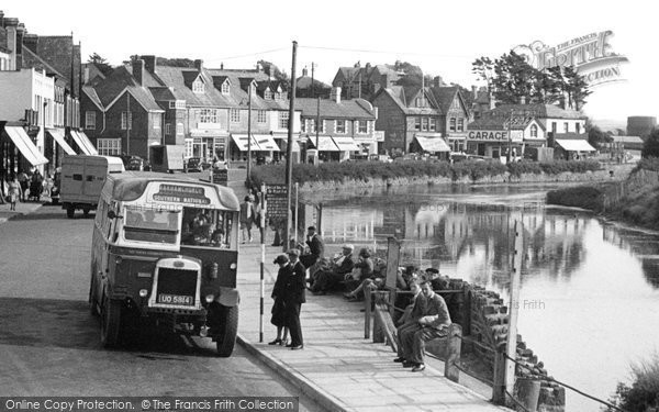 Bude, Bus On The Strand c.1950