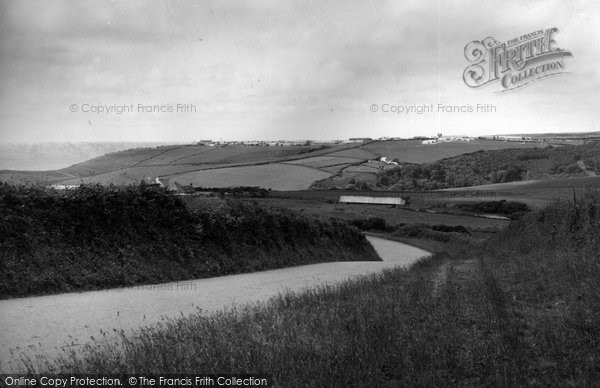 Bude, Camp Road From Coombe Road c.1960
