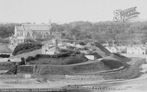 Photo of Bude, Castle And Church 1893