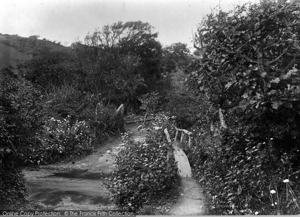 Bude, Coombe Valley Footbridge 1929