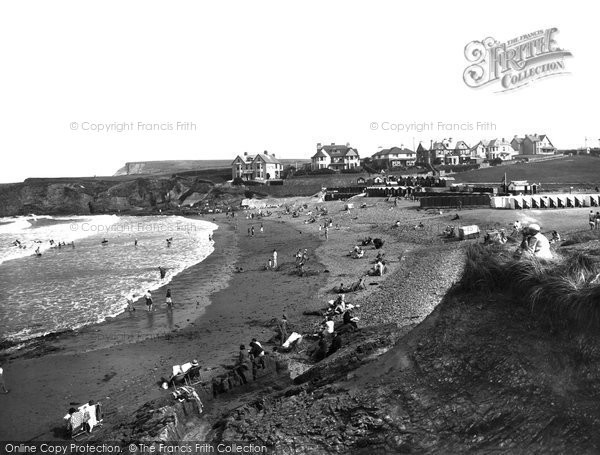 Bude, Crooklets Beach 1937