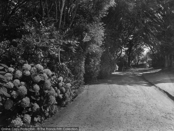 Bude, Efford Down Hotel, Main Drive 1935