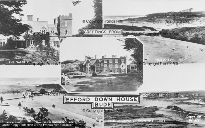 Photo of Bude, Efford Down House, Composite c.1955