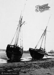 Bude, Fishing Boats 1893