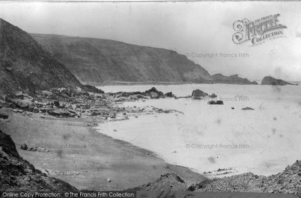 Photo of Bude, Foxes' Holt c.1871