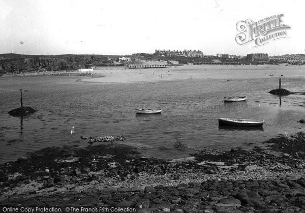 Bude, Harbour And Summerleaze Bathing Beach 1936