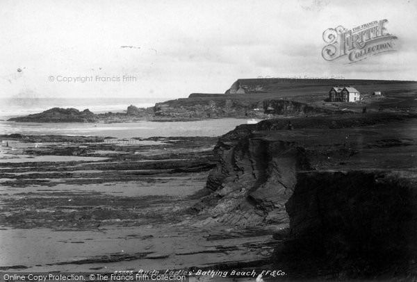 Bude, Ladies' Bathing Beach 1900