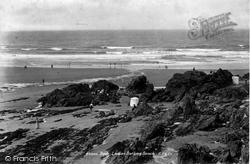 Bude, Ladies' Bathing Beach 1900