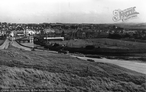 Bude, Nanny Moore's Bridge And Tennis Courts 1949