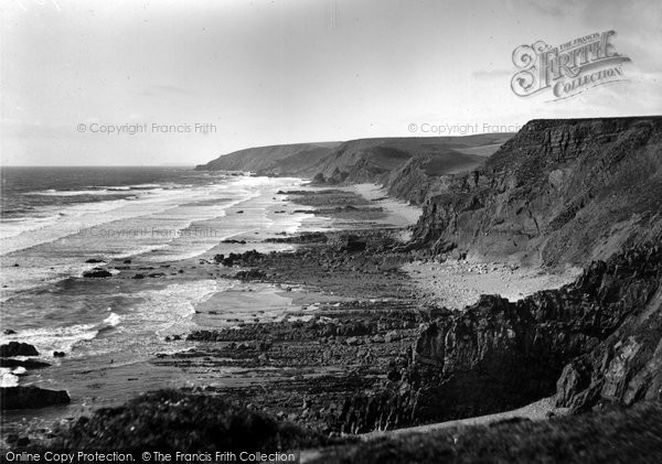 Bude, Northcott Mouth, Sharpnose Point 1929