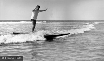 Bude, riding the Surf c1960