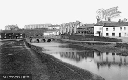 Bude, River Neet And Moreland Terrace 1890