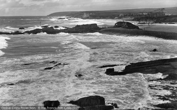 Bude, Rough Sea And Breakwater 1926
