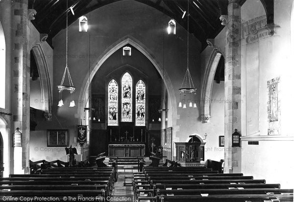 Bude, St Michael's Church, Interior 1920