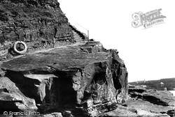 Bude, Summerleaze Cliffs Waydown 1893