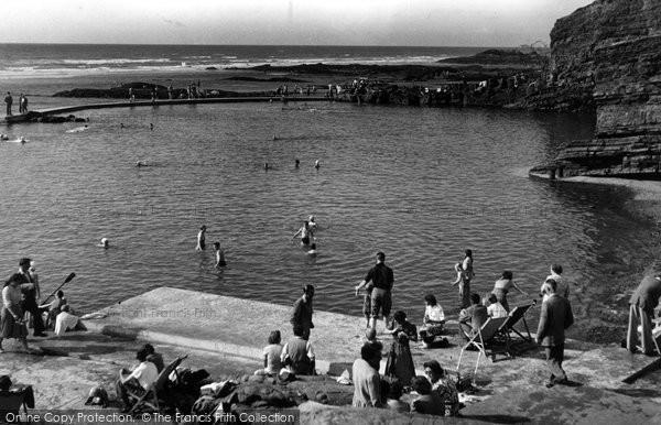 Bude, The Bathing Pool 1949