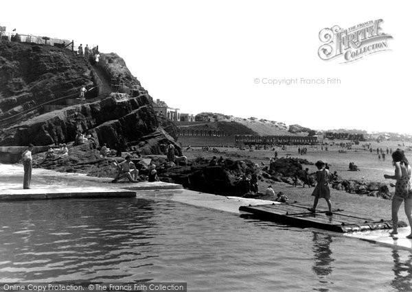 Bude, The Bathing Pool c.1950