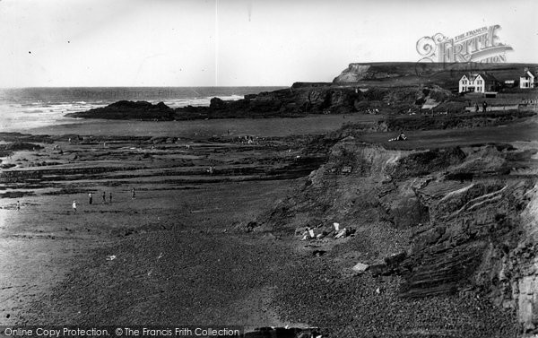 Bude, The Cliffs And Beach 1949