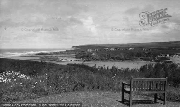 Bude, The Coast From Efford Down Hotel c.1960