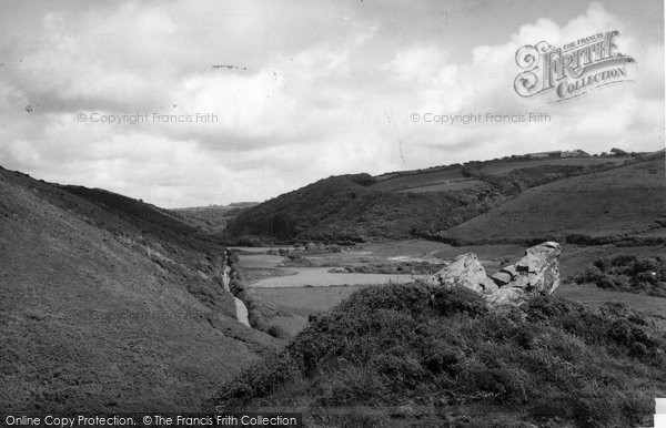 Bude, The Combe Valley c.1960