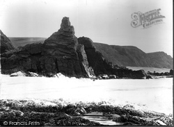 Bude, The Pinnacle Rock c.1861