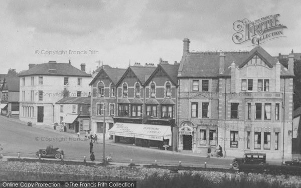 Photo of Bude, The Strand And The Globe Hotel 1929