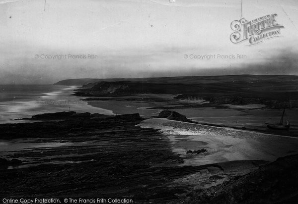 Bude, Up The Coast From Storm Tower c.1871