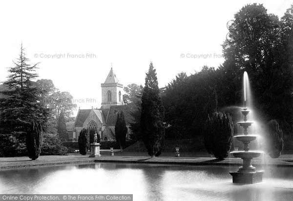 Budleigh Salterton, Bicton Church And Fountain 1890