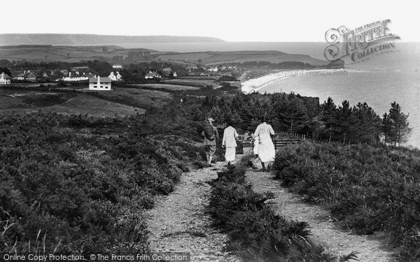 Budleigh Salterton, Cliff Path 1925