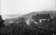 Budleigh Salterton, From Cricket Field 1890