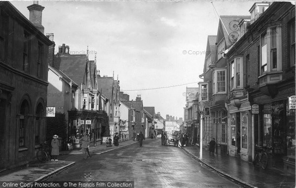 Budleigh Salterton, High Street 1914