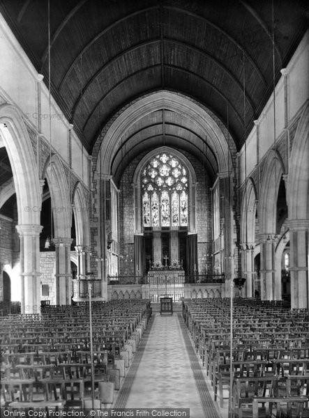 Budleigh Salterton, St Peter's Church Interior 1925