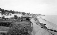 Budleigh Salterton, The Beach c.1965