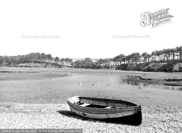 Budleigh Salterton, the Mouth of the Otter c1960