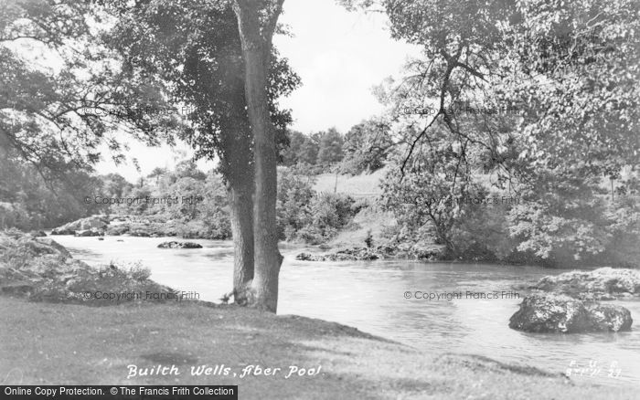Photo of Builth Wells, Aber Pool c.1935