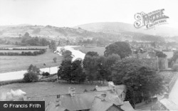 Builth Wells, And River Wye c.1955
