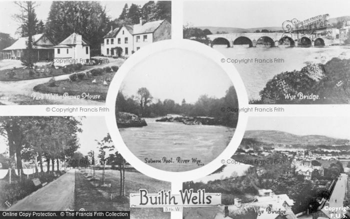 Photo of Builth Wells, Composite c.1935