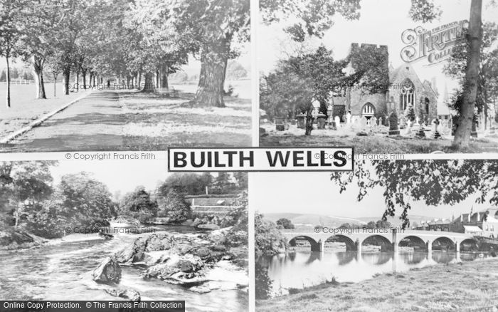 Photo of Builth Wells, Composite c.1950
