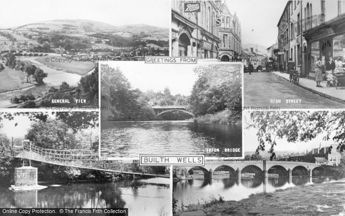 Photo of Builth Wells, Composite c.1955
