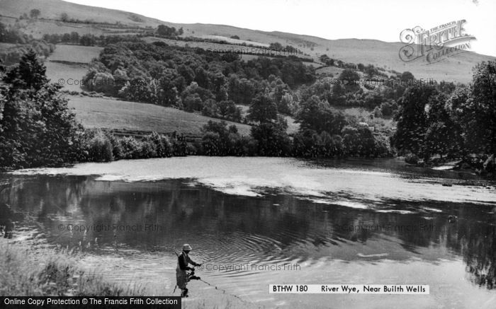 Photo of Builth Wells, Fisherman At The River Wye c.1960