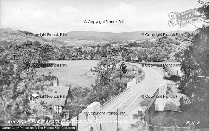 Photo of Builth Wells, From Caerberris c.1935