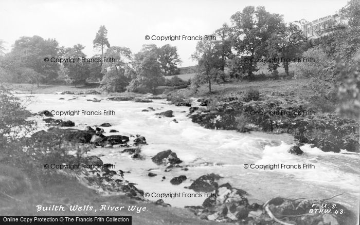 Photo of Builth Wells, River Wye c.1935