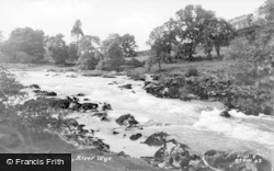 Builth Wells, River Wye c.1935